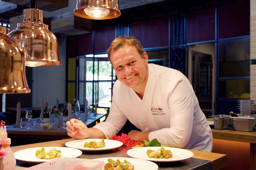 Simon Tress in seinem neuen Bio-Restaurant