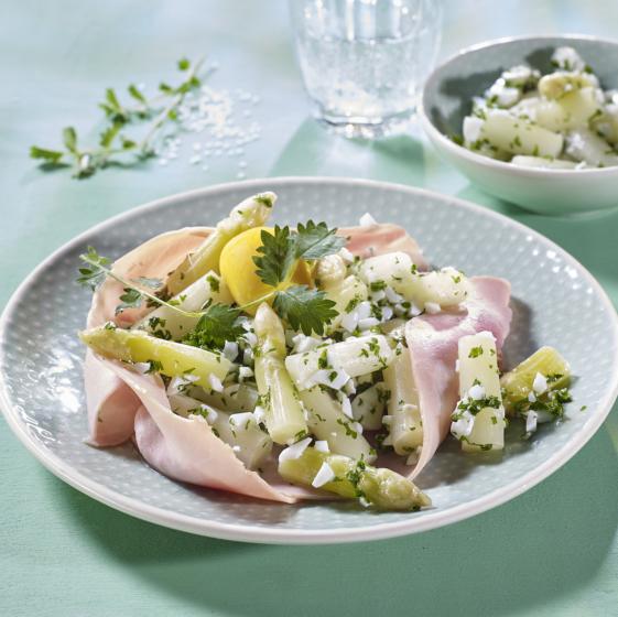 Rezept Salat vom Weissen Spargel mit Schinken
