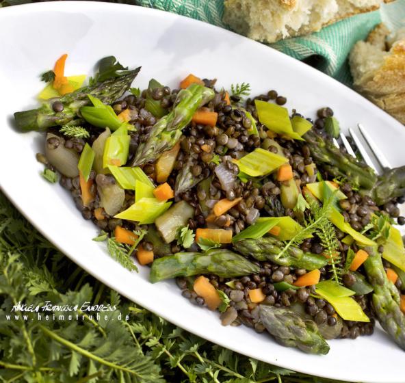 Linsen Spargel Salat